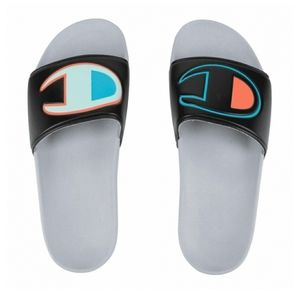 Champion IPO Color Block Slides  Blk/Multi/Slvstne